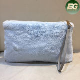 Moda Lady Pretty Cute Faux Coelho Fur Handbag Shoulder Messenger Bag Mulheres Clutches Sy8030