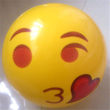 Déflaté 40cm Gonflé 30cm Diamètre gonflable Smile Face Beach Ball