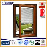 Hölzerne Farbe doppeltes glasig-glänzendes Aluminiumwindows für Neigung-und Drehung-Aluminiumfenster