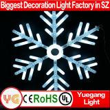 Licht weißes grelles grosses der Schneeflocke-Weihnachtsim freien Dekoration-Bewegungs-LED