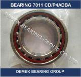 Шаровой подшипник 7011 CD/P4adba контакта высокой точности угловой