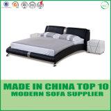 現代寝室の家具の倍の革ベッドデザイン