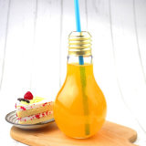 Botellas de consumición del jugo de la taza Shaped plástica de la bombilla