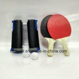 Em qualquer lugar jogo ajustado retrátil da raquete de Pong do sibilo do tênis de tabela