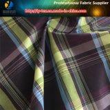 Poliester/tela teñida hilado mezclada de nylon de la camisa de la verificación
