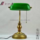 Moderner Entwurfs-goldene antike Banker-Tisch-Lampe für Schlafzimmer