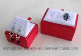 Rectángulo de regalo de empaquetado modificado para requisitos particulares papel colorido de la cartulina de la joyería