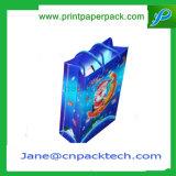 リボンが付いているカスタムオフセット印刷のショッピングギフト袋のペーパーハンドバッグ