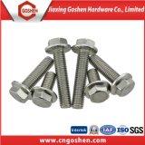 Parafuso de flange hexagonal de aço inoxidável DIN 6921
