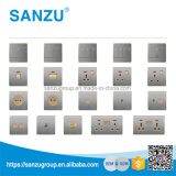 precio de fábrica de alta calidad doble interruptor de pared universal y de la toma