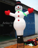 Luz de la publicidad Bienvenido muñeco de nieve de diseño Inflable Navidad Mini Air Dancer