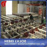 Placa de yeso las máquinas y equipos de la planta con el ingeniero Service Overseas