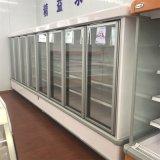 Чистосердечный стеклянный холодильник охладителя индикации охлаждения на воздухе супермаркета двери