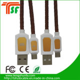 다채로운 가죽 끈목 USB 데이터 케이블