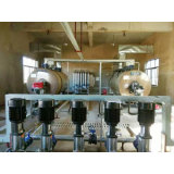 5.6MW &#160 de fuel horizontal; Caldera de agua caliente de la presión atmosférica