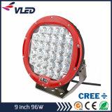 Lumière pilotante du CREE DEL de l'éclairage LED 9 '' (travail rond 96W 160W 185W de CREE 9inch de lampe tous terrains d'IP68 4X4)