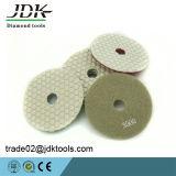 Garnitures de polonais sèches de diamant de JDK 100mm pour le granit/marbre/béton