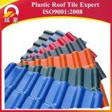Telha de telhado da resina sintética do PVC do ASA do material de telhadura do certificado do ISO