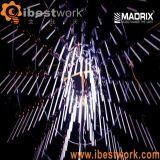 De Verlichting van Madrix van de LEIDENE DMX Verlichting van de Meteoor toont