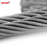 câble métallique de levage d'acier inoxydable du câble 6X7
