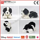子供のための現実的な詰められた犬のおもちゃの柔らかい動物のリアルなプラシ天のおもちゃある犬