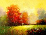 Тип напечатанный таможней красивейшая картина искусствоа пейзажа цветка Peony