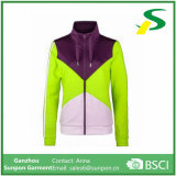 Revestimento de esporte Windproof uniforme dos esportes das mulheres