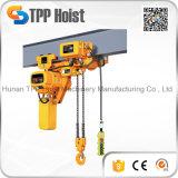 Hsy bloco de polia Chain elétrico da grua da corrente do dobro de 2 toneladas