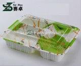 Prägender umweltfreundlicher starker Wegwerf4 Fach-Plastikmittagessen-Kasten