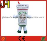 Traje inflable modificado para requisitos particulares de la botella para hacer publicidad
