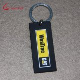 PVC grabado aduana barata Keychain de la insignia para el regalo