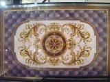Seis em um tapete de cristal dourado Polished da telha cerâmica da flor ajustada para o hotel