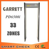 Alta sensibilidad del detector de seguridad de la zona 33 Paseo por la puerta del detector de metales