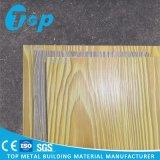 Анодируя деревянным панель изогнутая зерном для ого потолка