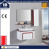 Governo di legno fissato al muro personalizzato di vanità della stanza da bagno con il lavabo