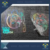 Collant détruit facile transparent fait sur commande d'hologramme d'Individu-Ahesive du laser 3D