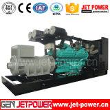 Diesel van de Motor 1250kVA van Cummins de Elektrische Elektrische centrale van de Generator 1000kw 1MW