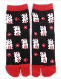 Glückliche Katze Cuty 2 - Zehe-Socke Tabi Socke