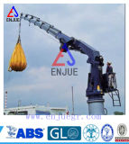 Gru idraulica della nave con l'asta ritratta diplomata dall'iso dell'ABS CCS BV