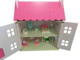 아이와 아이들을%s 최신 판매 DIY 나무로 되는 장난감 분홍색 인형 집