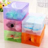 색깔 투명한 플라스틱 저장 또는 조가비 서랍 유형 결정 Shoebox