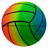 Волейбол спортивной площадки PVC радуги 6 дюймов раздувной