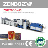 쇼핑 백을%s 기계를 만드는 Zb1200CS-430 장 공급 종이 봉지