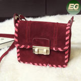 2017 Bolsa de mensageiro de senhoras clássicas Tecidos de tecelagem Mulheres Crossbody Handbag Suede Materials Sy8002