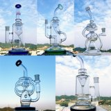 Dreifacher Abdeckung-Bienenwabe-Zylinder filtrieren Glaswasser-Rohr für das Rauchen
