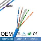 Flet de cuivre nu de câble LAN De Sipu 23AWG UTP CAT6 réussi 305m