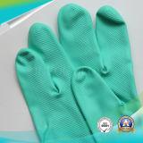Impermeable anti-ácido examen jardín negro nitrilo guantes con alta calidad