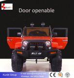 2017 Nuevo Big 2 asientos Jeep coche, doble puerta abierta, 2 motores, reproductor MP4, EVA rueda de goma opcional