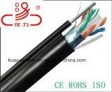 Cable llenado jalea del audio del conector de cable de la comunicación de cable de datos del cable del cable/del ordenador de LAN de UTP CAT6