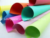 Pulpa de madera pura pura teñida de papel colorido